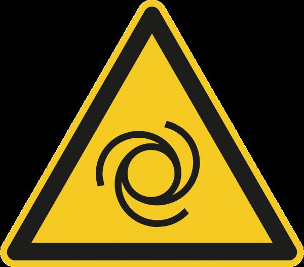 """Warnzeichen """"Warnung vor automatischem Anlauf"""" W018"""
