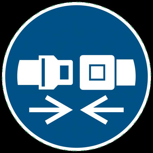 ISO 7010 - M029 - Rückhaltesystem benutzen